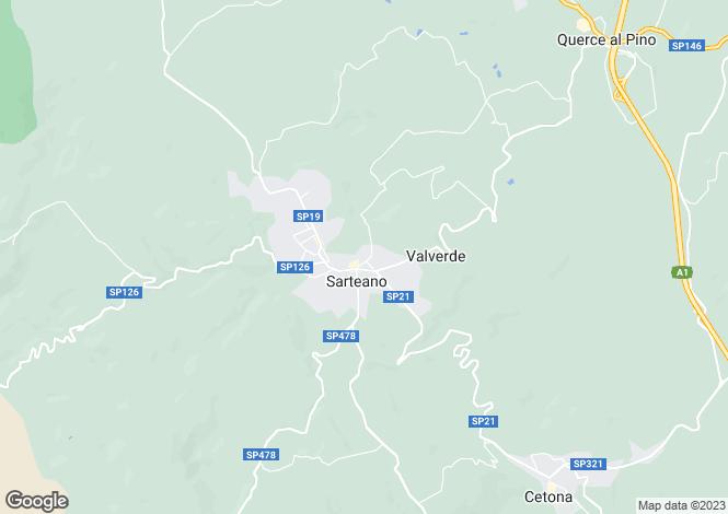 Map for Italy - Tuscany, Siena, Sarteano