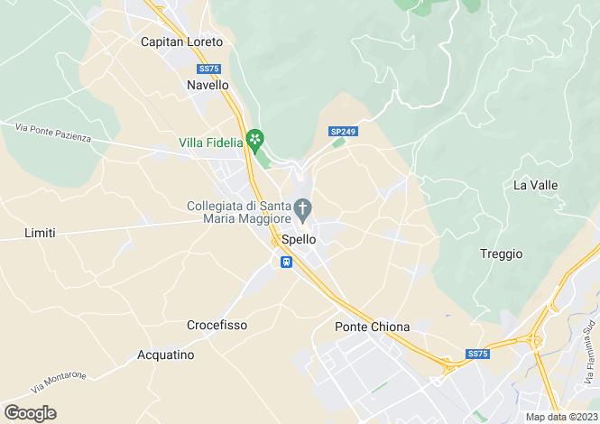Map for Italy - Umbria, Perugia, Spello