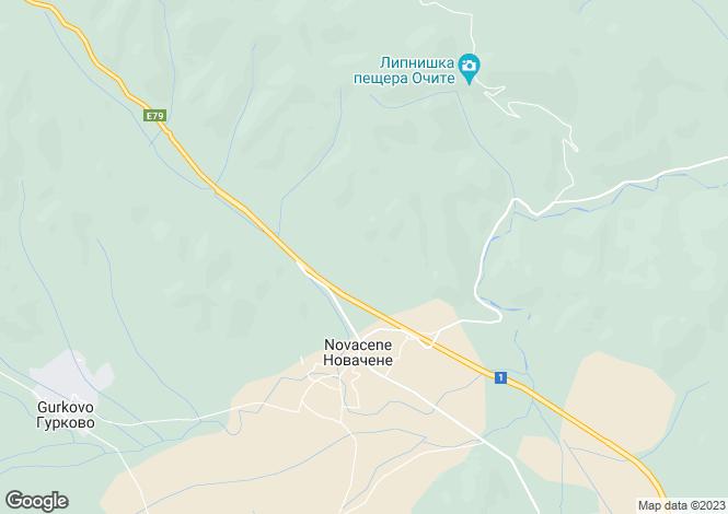 Map for Sofiya, Novachene