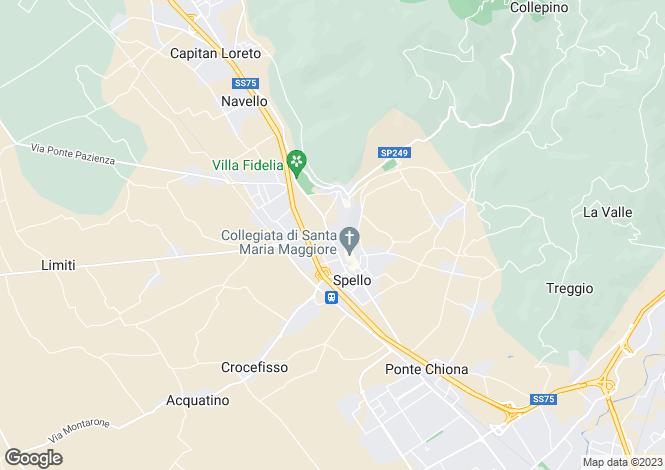 Map for Spello, Perugia, Umbria
