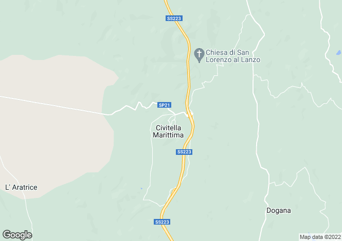 Map for Tuscany, Grosseto, Civitella Marittima
