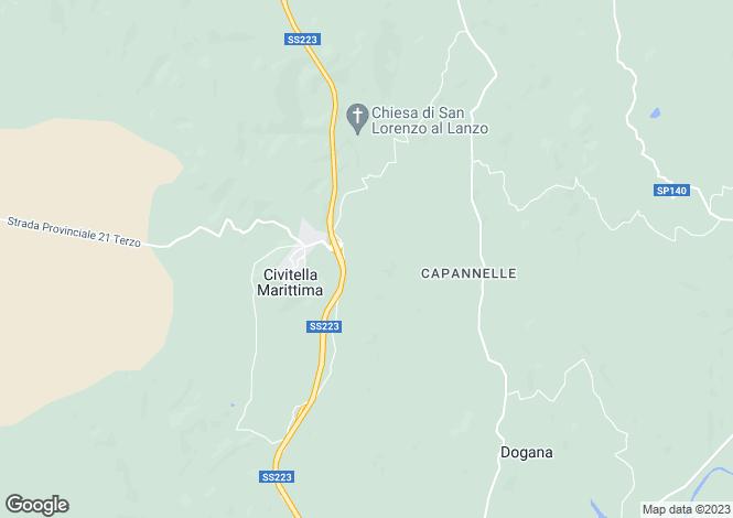 Map for Civitella Paganico, Grosseto, Tuscany