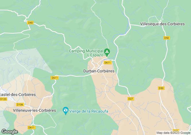 Map for Proche/Near Durban-Corbieres, Aude