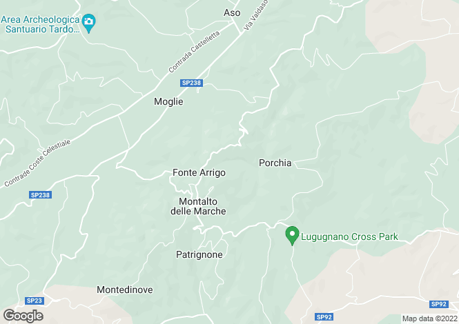 Map for Montalto delle Marche, CONTRADA FONTE ARRIGO