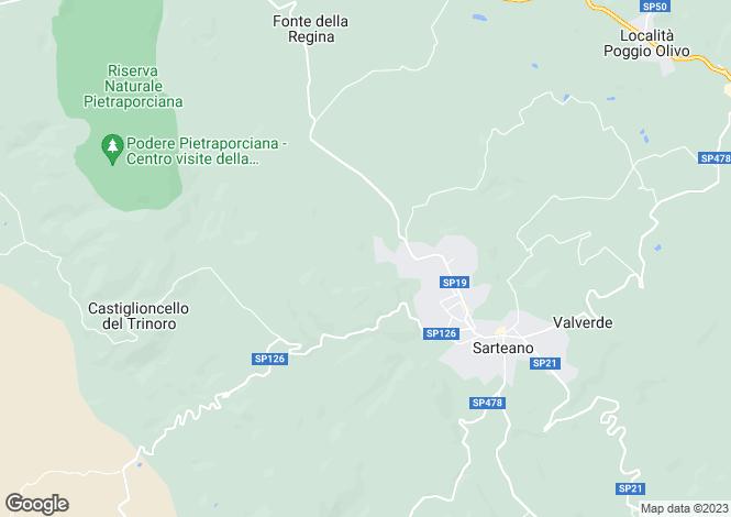 Map for Via dei Mari, Sarteano, Tuscany