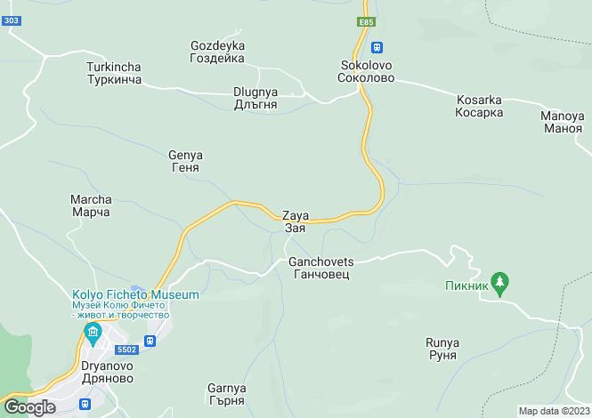 Map for Zaya, Gabrovo