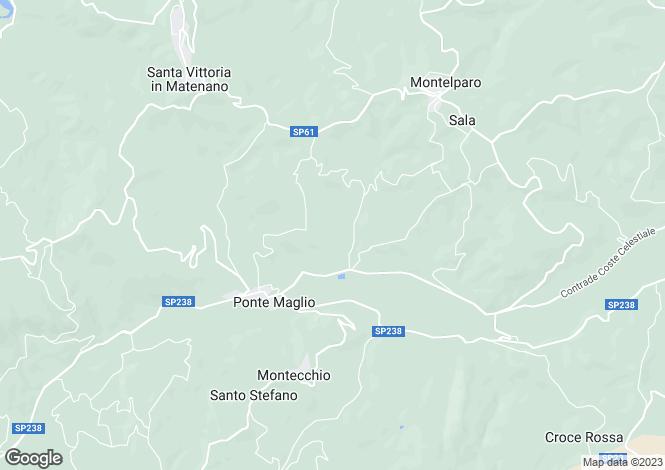 Map for Montelparo, Fermo, Le Marche