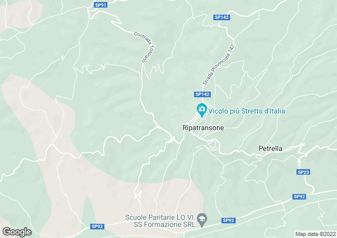 Map for Ripatransone, Ascoli Piceno, Le Marche