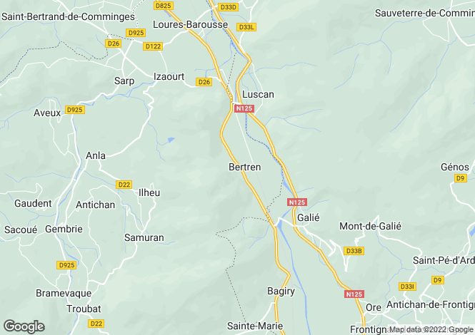 Map for luscan, Haute-Garonne, France