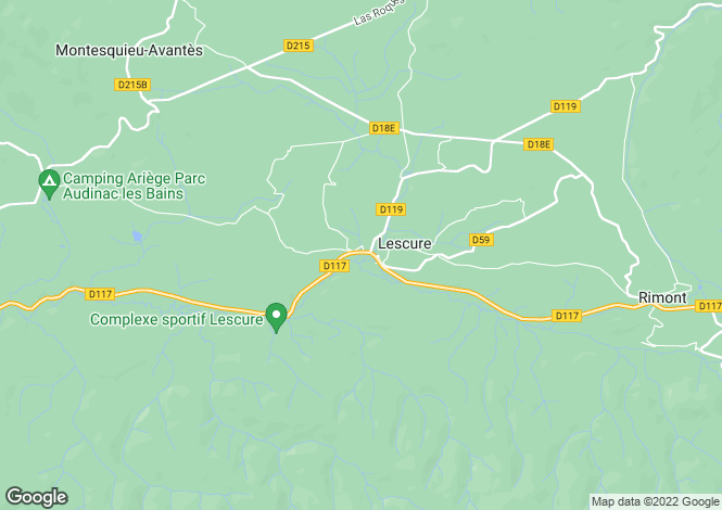 Map for lescure, Ariège, France