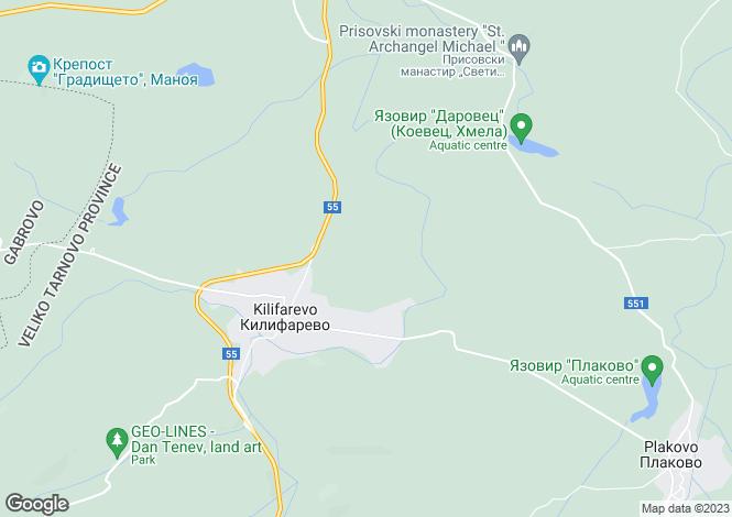 Map for Kilifarevo, Veliko Tarnovo