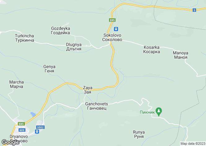 Map for Dryanovo, Gabrovo