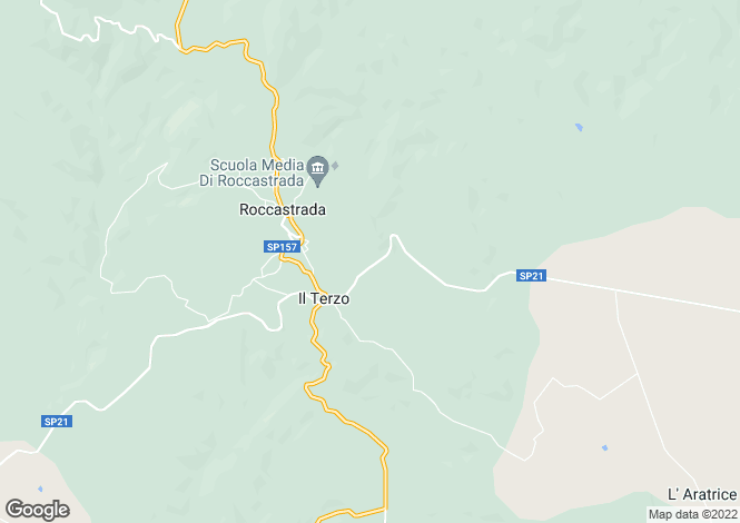 Map for Roccastrada, Grosseto, Tuscany