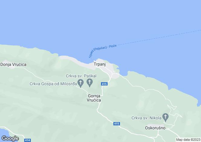 Map for Trpanj, Trpanj, Croatia