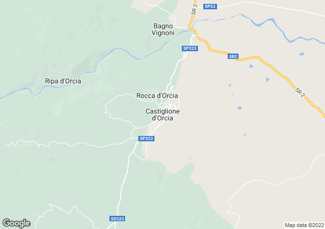 Map for Castiglione D'orcia, Tuscany, Italy