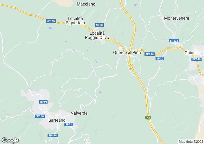Map for Sarteano, Siena, Tuscany