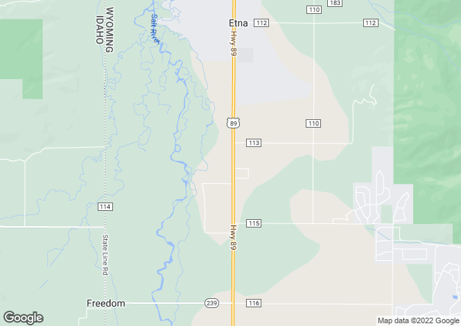Map for Wyoming, Lincoln County, Freedom
