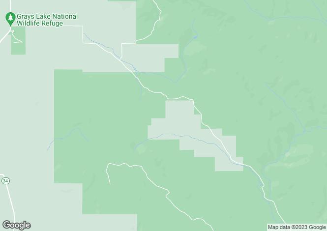 Map for Idaho, Caribou County, Wayan