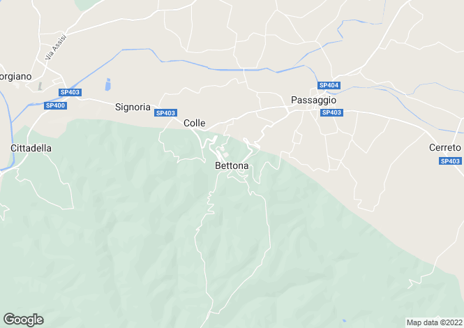 Map for Umbria, Perugia, Bettona