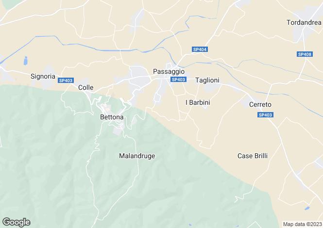 Map for Bettona, Perugia, Umbria