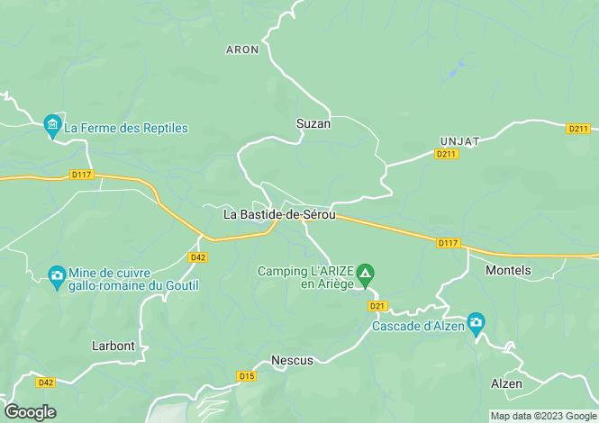 Map for la-bastide-de-serou, Ariège, France