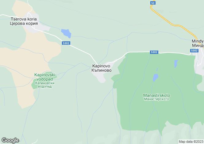 Map for Kapinovo, Veliko Tarnovo