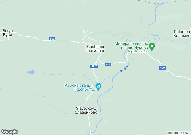 Map for Gabrovo, Gostilitsa