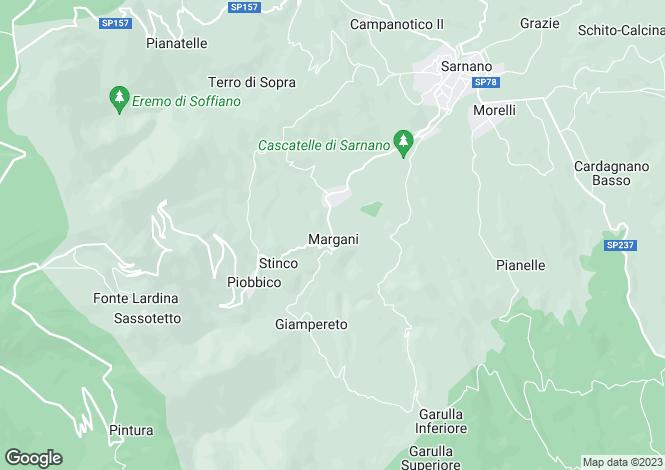 Map for Sarnano, Macerata, Le Marche