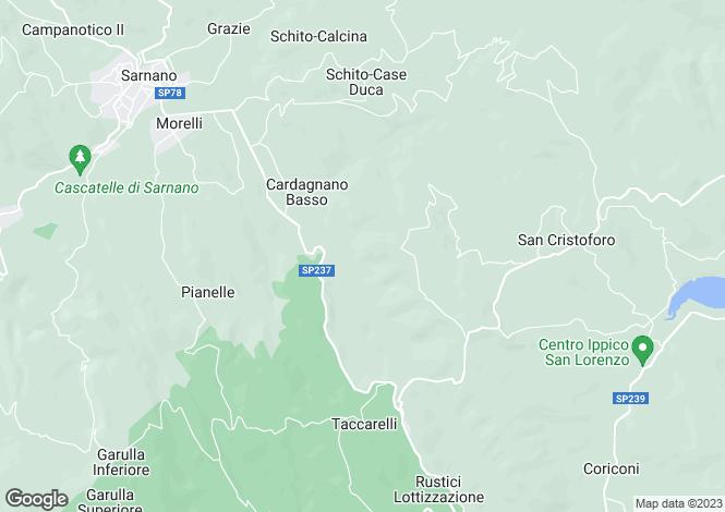 Map for Amandola, Fermo, Le Marche