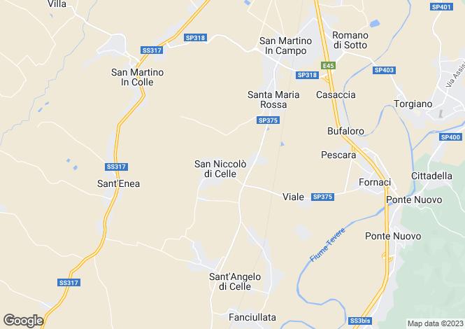 Map for Deruta, Perugia, Umbria
