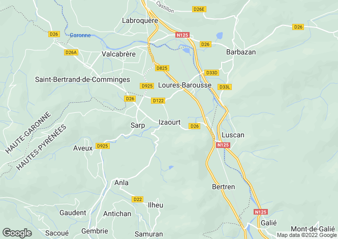 Map for izaourt, Hautes-Pyrénées, France