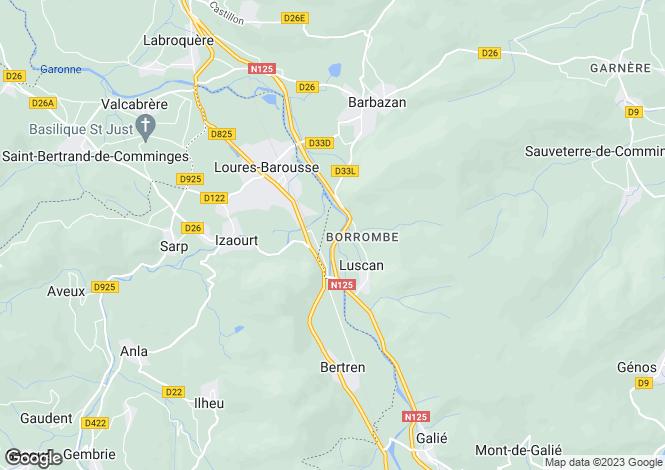 Map for loures-barousse, Hautes-Pyrénées, France