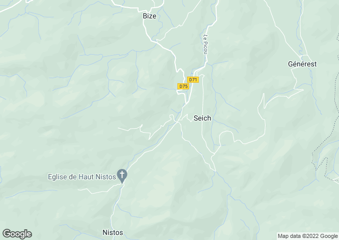 Map for nistos, Hautes-Pyrénées, France