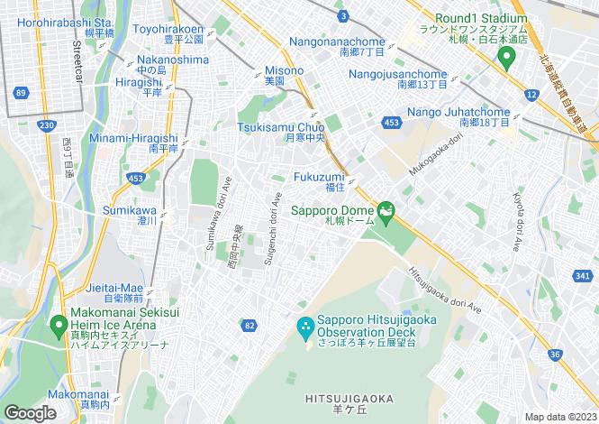 Map for Hokkaido