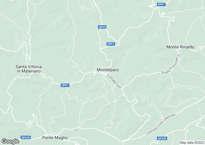 Map for Montelparo, CONTRADA RONGONE