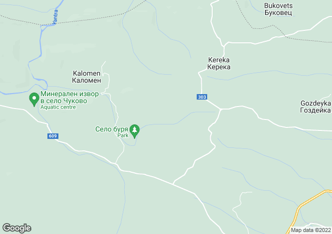 Map for Gabrovo, Dryanovo
