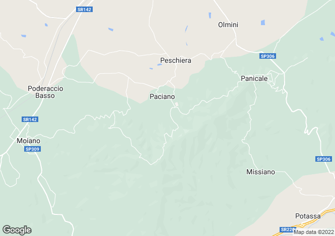 Map for Umbria, Perugia, Paciano