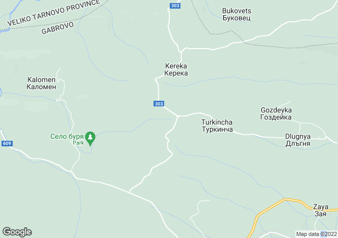Map for Dryanovo, Gabrovo