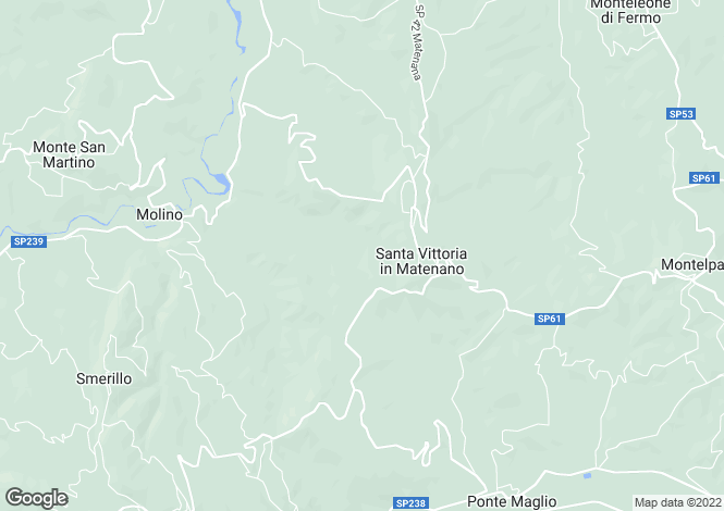Map for Santa Vittoria In Matenano, Fermo, Le Marche