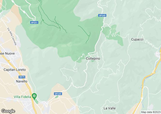 Map for Umbria, Perugia, Spello