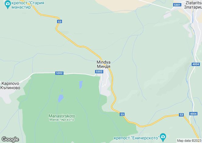 Map for Mindya, Veliko Tarnovo