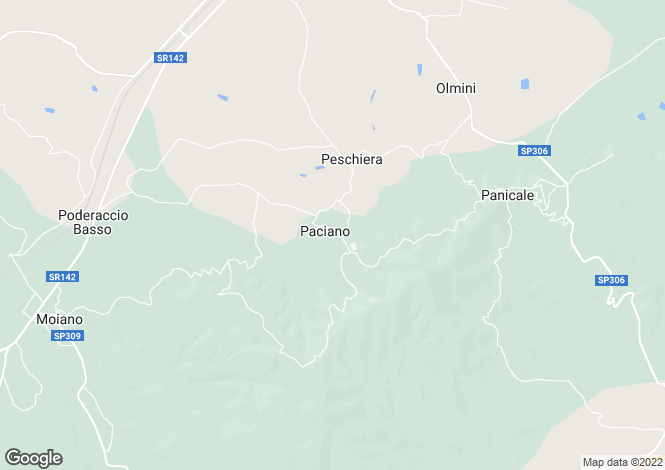 Map for Paciano, Perugia, Umbria