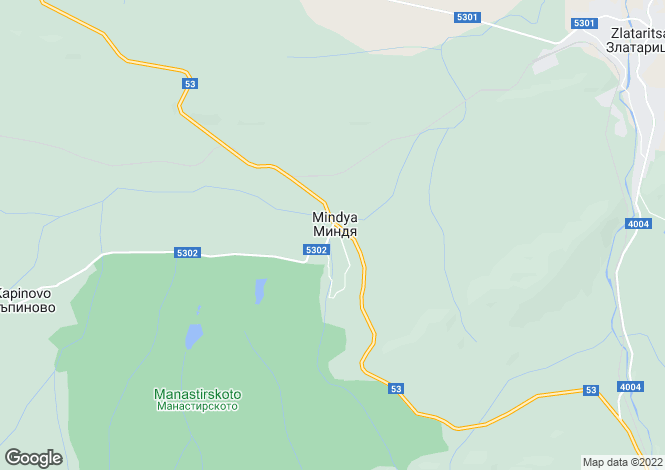 Map for Mindya, Veliko Tarnovo