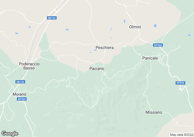 Map for Paciano, Umbria, Italy