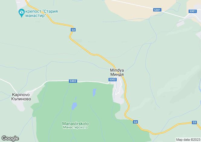 Map for Veliko Tarnovo, Mindya