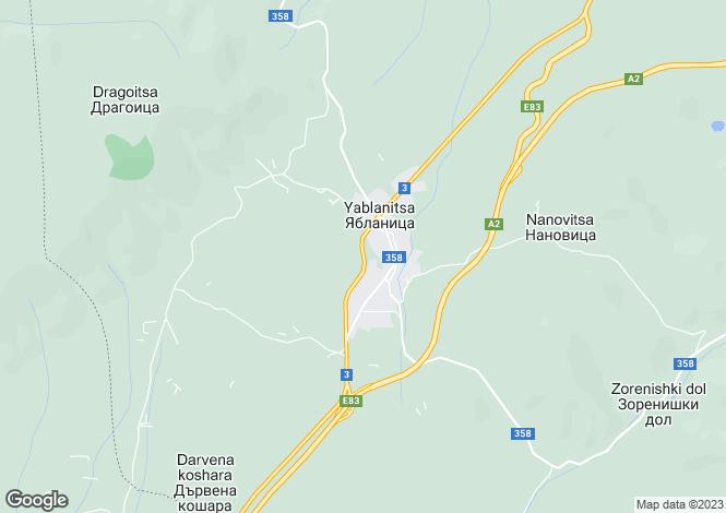 Map for Lovech, Yablanitsa