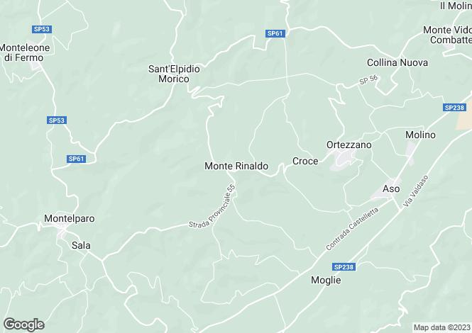 Map for Monte Rinaldo
