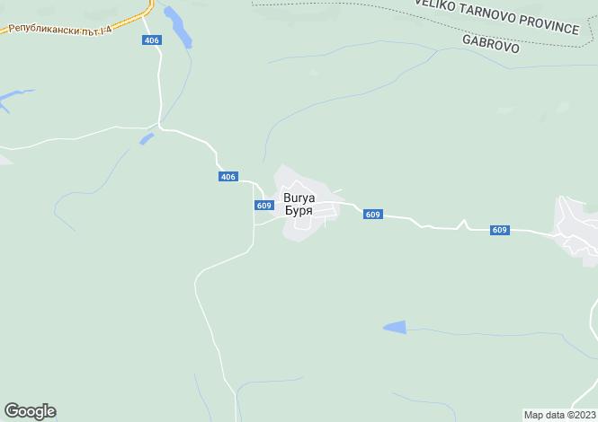 Map for Gabrovo, Sevlievo