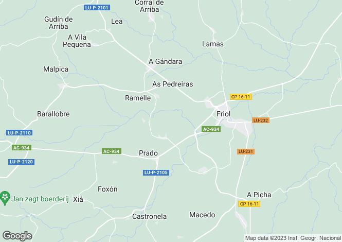 Map for Friol, Lugo, Galicia
