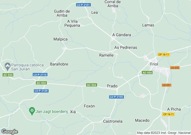 Map for Galicia, Lugo, Friol